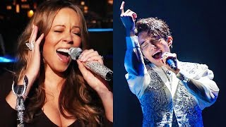 MALE Singers Hitting Mariah Carey's HIGHEST Whistle Notes!