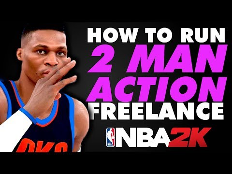 "HOW TO RUN ""2 MAN ACTION FREELANCE!"" - OKC THUNDER MONEY PLAYS! - 2K FILM ROOM (NBA 2K19 TUTORIAL)"