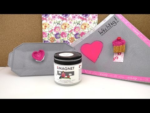 Magnetfarbe im Test! Magnetpinnwand mit Farbe selber machen   Back to School   Organisation