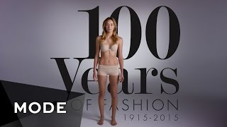 100 Years of Fashion in 2 Minutes | MODE - YouTube