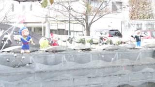 【富山県】ニンニン、ハットリくんのカラクリ時計の巻