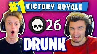 1 KILL = 1 SHOT OF LIQUOR! (DRUNK FORTNITE WIN WITH MY ROOMMATES!)