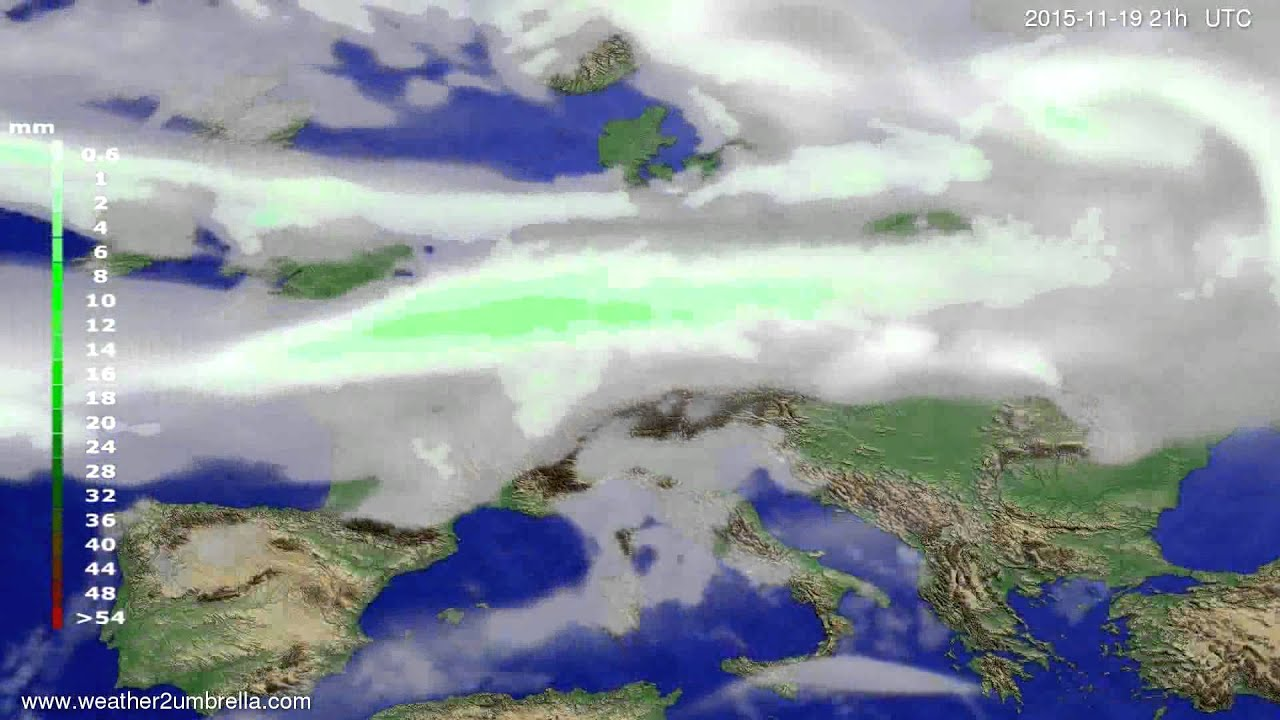 Precipitation forecast Europe 2015-11-16