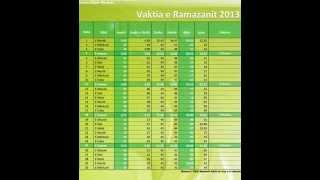 vaktija 2013 Vaktia E Ramazanit 2013 Kosov