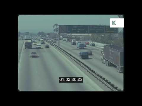 Highway Traffic, Los Angeles, 1988, HD