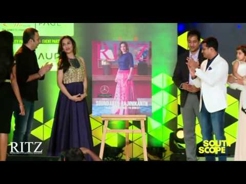Soundarya Rajinikanth unveils the cover of the October edition of the Ritz Magazine