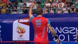 The longest rally ever recorded in Mens Singles!! (to my knowledge) 108 stroke rally at match point in the third game of the QF match between Tien Minh Nguye...