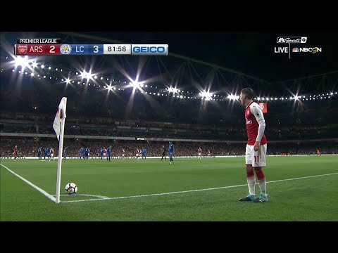 Video: Arsenal's Aaron Ramsey equalizes against Leicester City