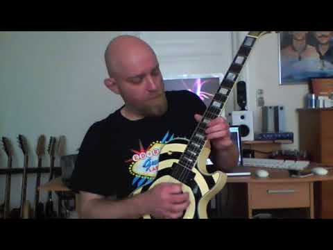 Gibson les paul custom bullseye played by peter domtorp