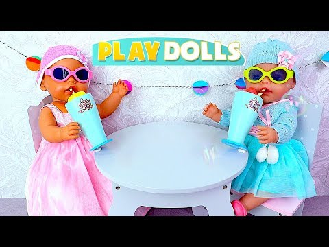 Baby Born Twin Dolls Bath Time And Cooking Toys!