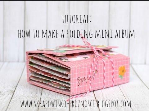 tutorial how to create a folding mini album mariposa keepsake album ...: guymarc-aurele.ca/videopage/on/qCxIlQ2MUaU.html