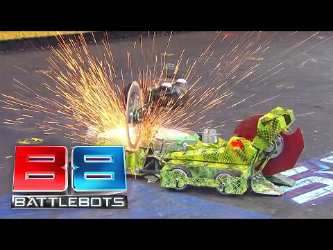 Video BattleBots Season 2 Exhibition Rumble: Skorpios, Death Roll and Bucktooth Burl download in MP3, 3GP, MP4, WEBM, AVI, FLV January 2017