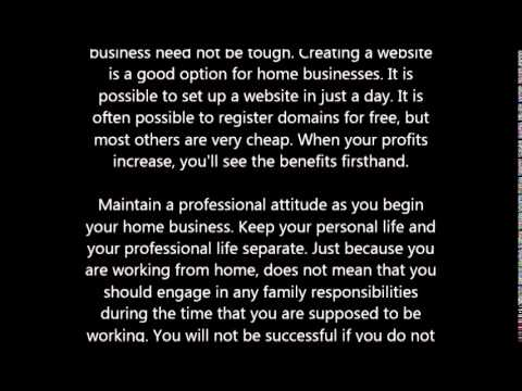 Sound Advice For Starting A Home Business