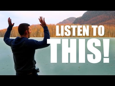 "YouTuber revisits the lake that made ""the coolest sound ever"" and this time the lake sings to him!"