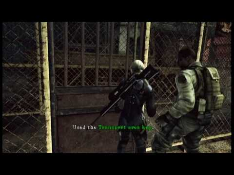Resident Evil 5 'Desperate Escape' - First Agitator Majini Appearance (Shoot the Messenger)