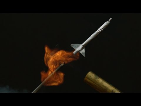 Matchstick Rockets Captured At 2500 FPS Look Like Tiny ICBMs