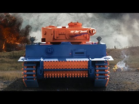 World War Nerf Special Effects Video of Two Opposing Forces Battling With Nerf