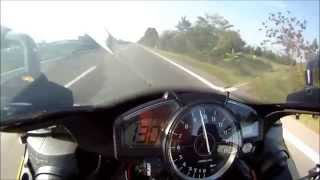 9. Yamaha r1 2008 very hard acceleration - full akrapovic, yec power