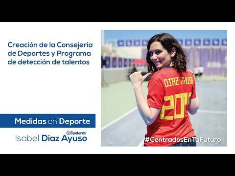 Isabel Díaz Ayuso - Medidas en Deporte