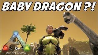 ARK Survival Evolved - Baby Dino-Dragon?! - E10 (CENTER MAP)