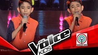 "The Voice Kids Philippines Blind Audition "" When I Was Your Man"" by JC and JM"