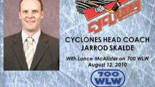 Cyclones Head Coach Jarrod Skalde with Lance McAlister on 700 WLW