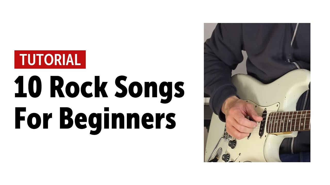 10 Rock Songs Every Beginner Guitar Player Should Know (no talking)