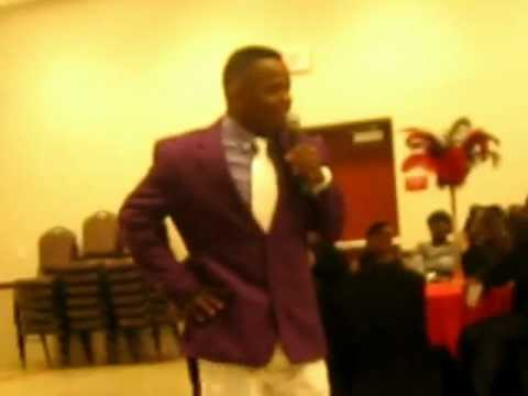 Comedian Larry Dogg at Monique's B-Day Party March 30 2012.AVI
