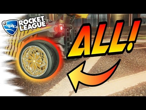 ALL PAINTED ROULETTE WHEELS! - Rocket League Turbo Crates Trading Guide! (With Mystery Decals!)