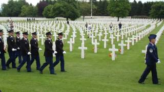 Download Lagu American Memorial Day Service at Henri-Chapelle American Cemetery in Hombourg, Belgium M4H02164 Mp3