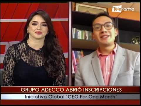 Grupo Adecco abrió inscripciones iniciativa global CEO For One Month
