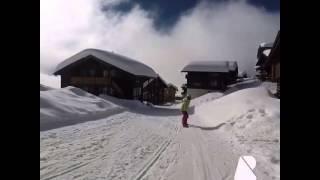 Bettmeralp Switzerland  city pictures gallery : My first snowboarding at Bettmeralp Switzerland.