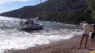 Komiza Croatia  city images : Yacht stranding in Komiza,Croatia