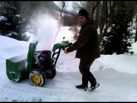 0 2011 John Deere 342cc 30 inch Model 1330SE Snow Blower 1695812 Review
