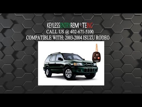How To Replace Isuzu Rodeo Key Fob Battery 2003 2004 Car