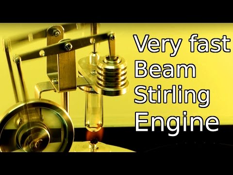 Very fast Beam Stirling Engine