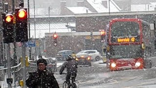 Nottingham United Kingdom  City new picture : Heavy Snow in Nottingham City Centre - Frozen Britain 2013