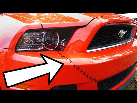 Fix a Cracked Bumper Fast and Easy with Zip Ties (Drifters' Stitch)