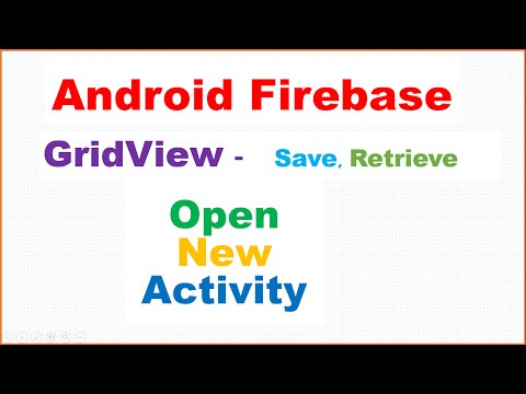 Android Firebase : GridView Master Detail