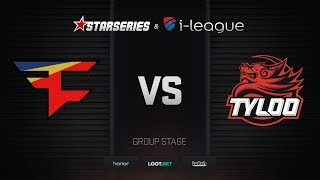 FaZe vs TyLoo, map 1 mirage, StarSeries i-League Season 4 Finals
