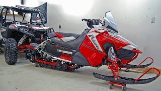 8. 2015 Polaris Switchback 800 - 60th Anniversary Edition - 1st Start + Walk Around - AXYS Pro S Sled