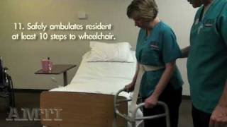 2010 Version CNA SKILL #4 Ambulation With Walker