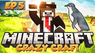 "Minecraft ""CRAZY CUTE PENGUINS"" - CRAZY CRAFT Modded Survival - Ep. 5 ( Crazy Craft Part 5 )"