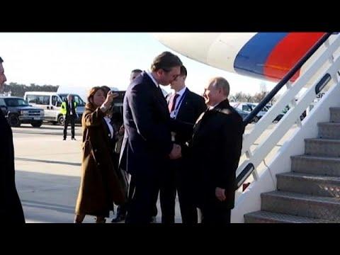 Με το βλέμμα στραμμένο στα Σκόπια ο Πούτιν στη Σερβία