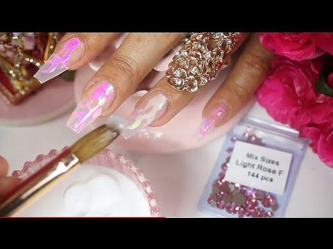 Uñas decoradas - UÑAS ACRILICAS hermosas con flamas  lo último en tendencia en uñas acrilicas