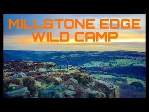 Millstone edge wildcamp in the Peak District