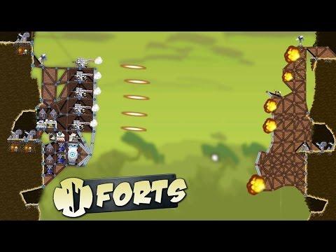 MINIGUN MAYHEM IN THE ABYSS - Lets Play FORTS GAMEPLAY - FORTS DESTRUCTION (видео)