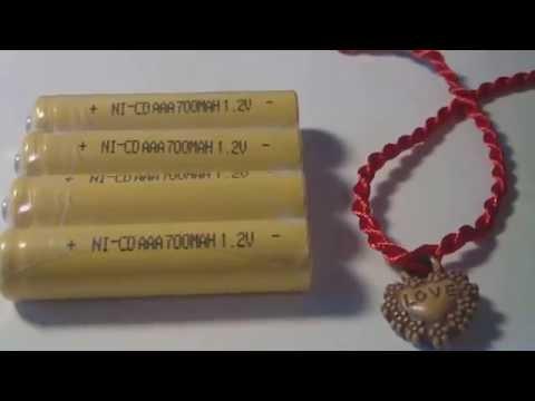 AAA NI-CD 700mAh 1.2v battery real capacity Test