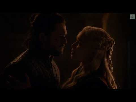 Daenerys and John Snow kiss scene in Winterfell | Game of Thrones S8E4