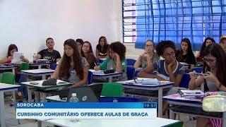 Sorocaba: cursinho comunitário dá aulas gratuitas para quem sonha em cursar uma faculdade
